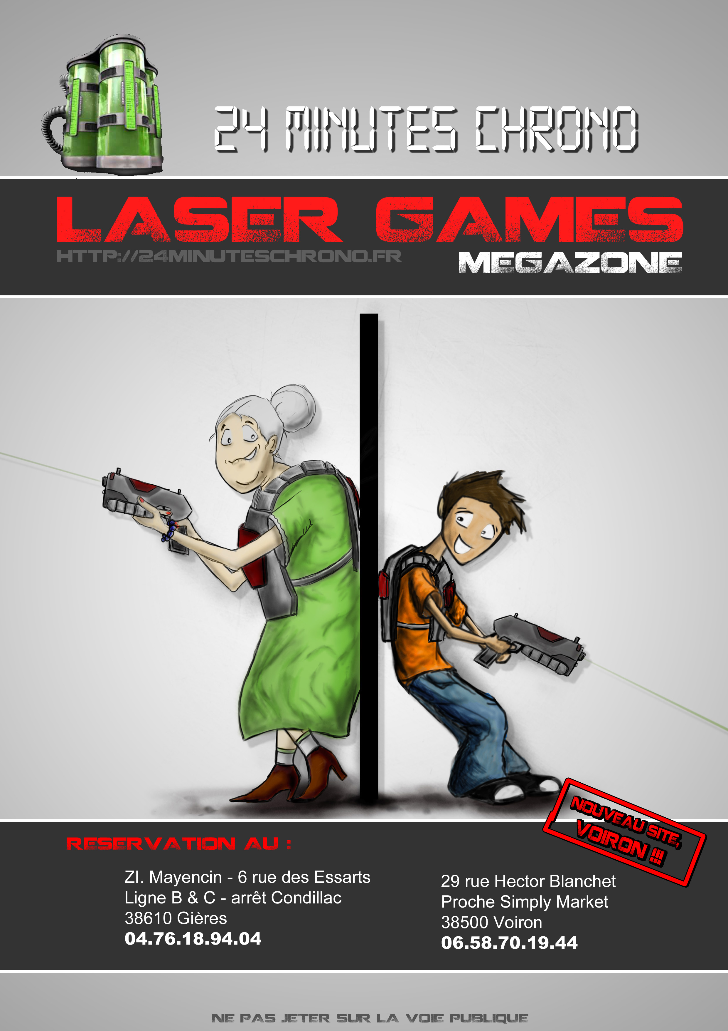 Exceptionnel Nos Flyers | LASER GAMES - 24 MINUTES CHRONO SX25