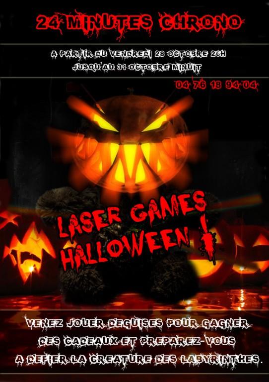 super weekend halloween laser games 24 minutes chrono. Black Bedroom Furniture Sets. Home Design Ideas