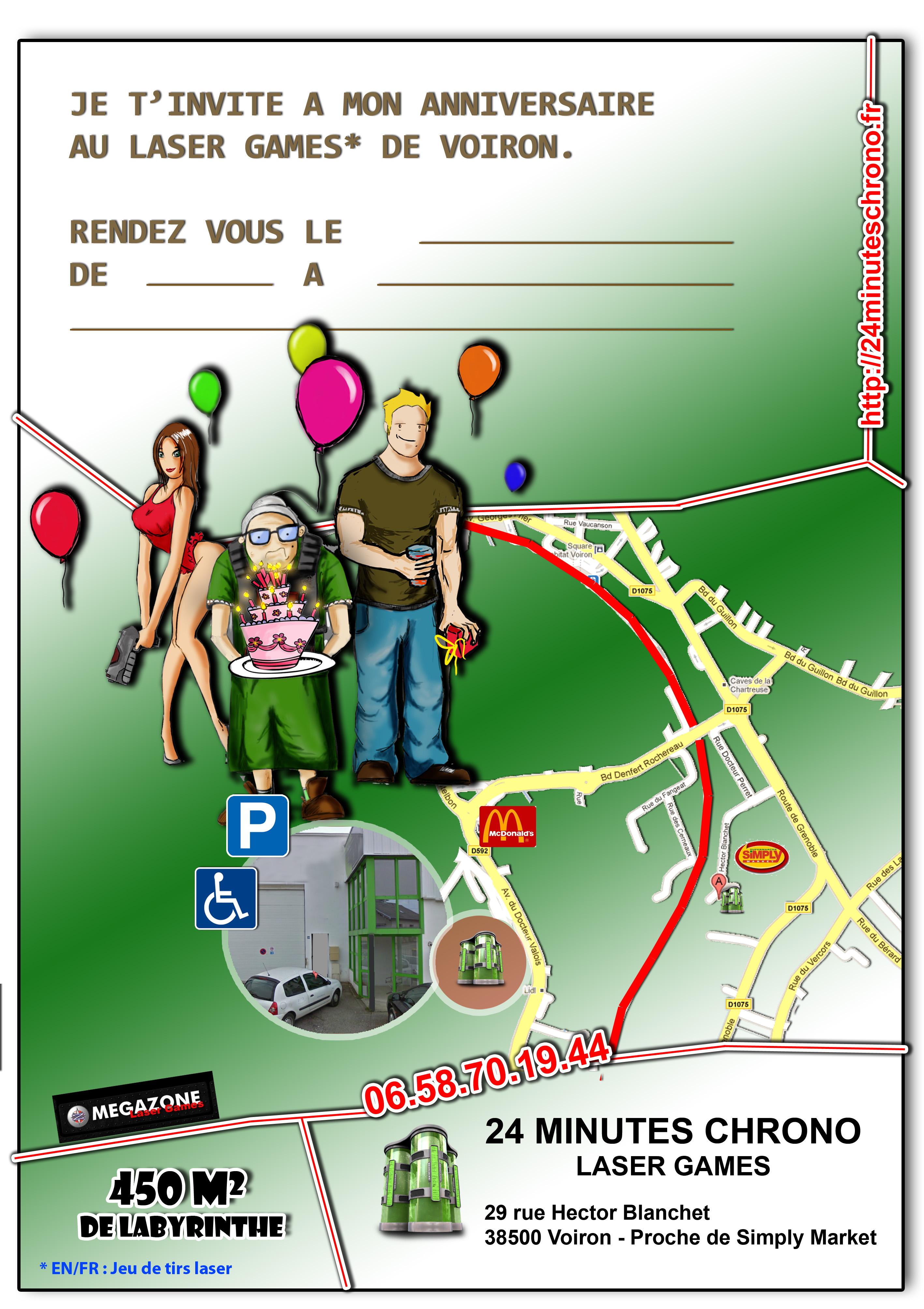Célèbre Les cartons d'anniversaire – VOIRON | LASER GAMES - 24 MINUTES CHRONO GC05